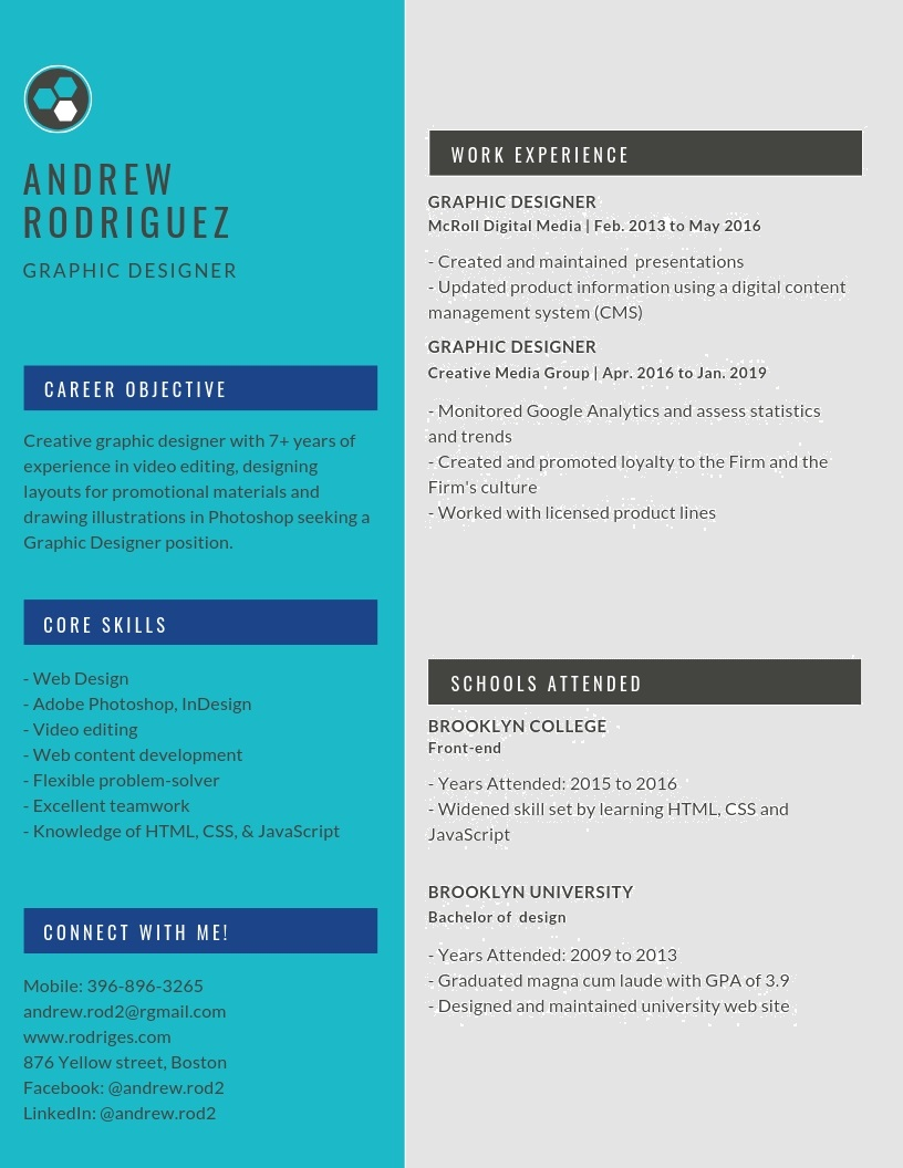 Graphic Designer Resume Samples (Templates) PDF + Word