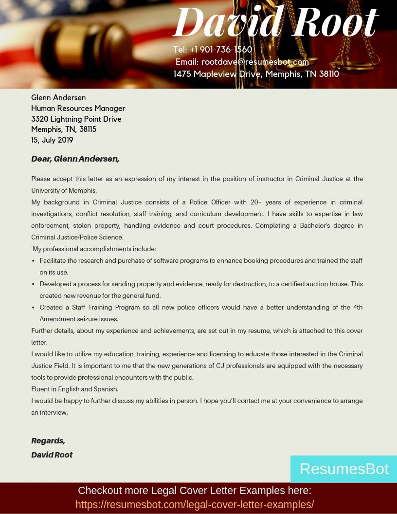 Resumes cover letter criminal justice lawyer kiev resume