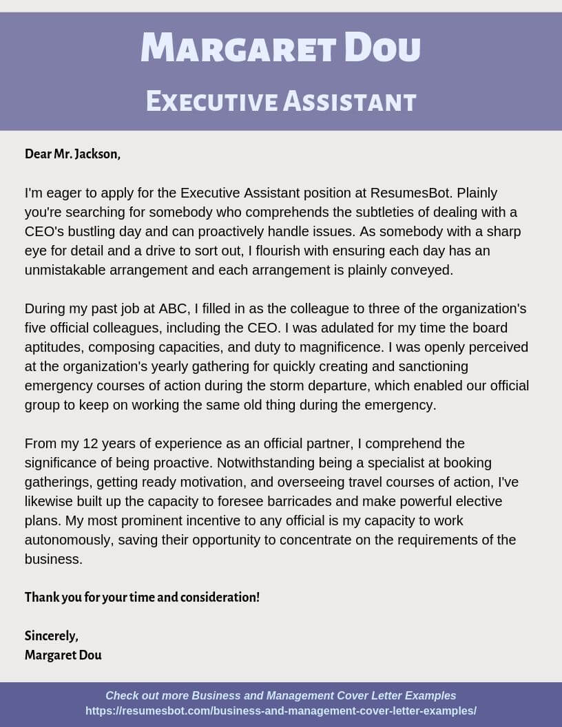 Management Cover Letter Sample from resumesbot.com
