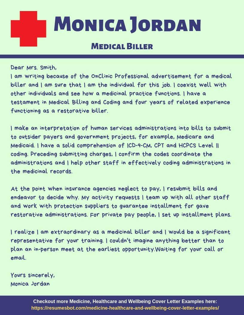 Medical Biller Cover Letter Samples Templates Pdf Word 2021 Medical Biller Cover Letters Rb