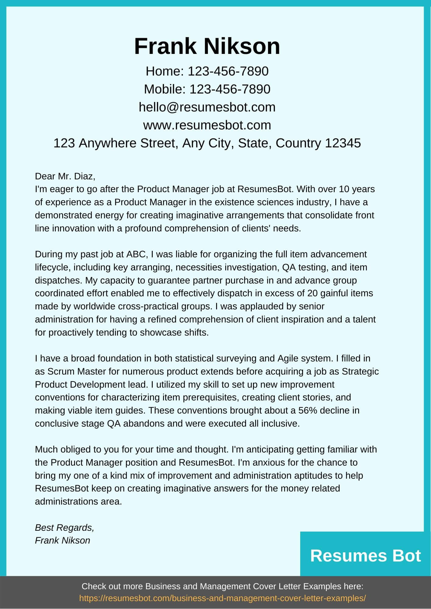 24+ Outstanding Product Manager Cover Letter Example  You Must Try