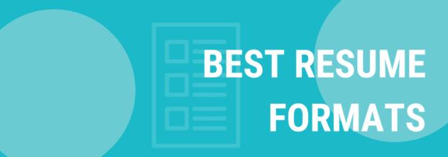 three main resume formats