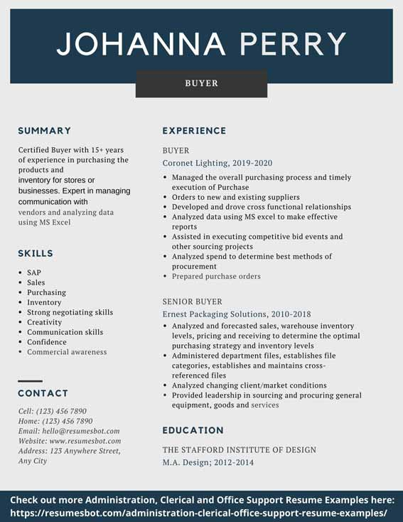 Buyer Resume Samples Amp Templates Pdf Doc 2020 Buyer