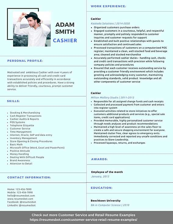 Cashier Resume Samples And Tips Pdf Doc Resumes Bot