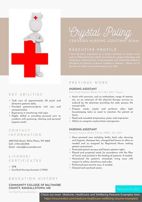certified nursing assistant  cna  resume samples and tips