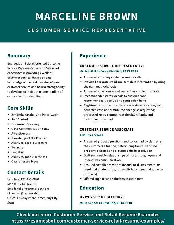 Customer Service Resume Samples And Tips Pdf Doc Resumes Bot