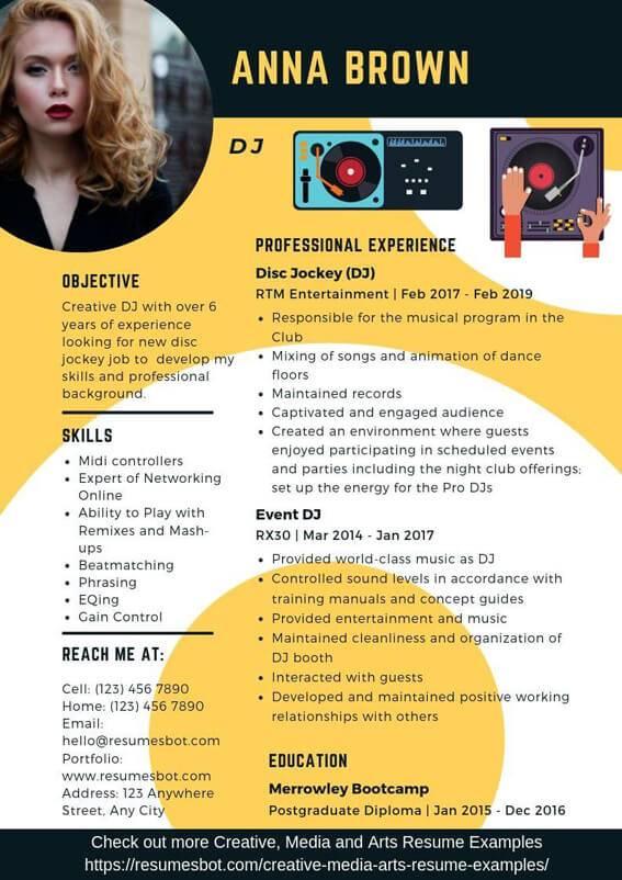 How To Write A DJ Resume - Become a DJ • Producer Spot