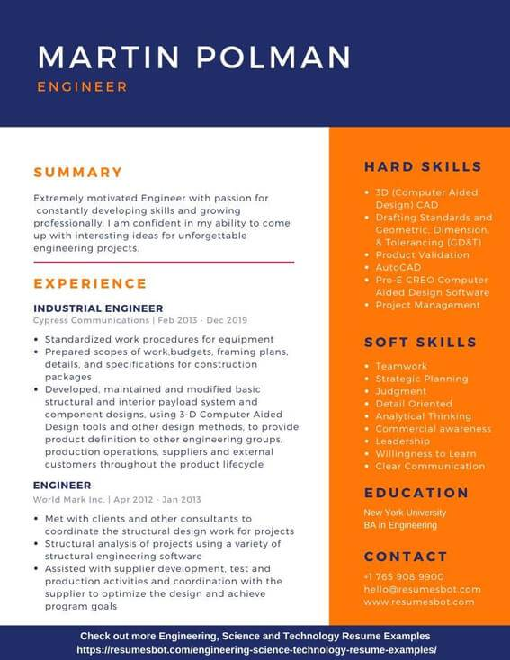 Engineering Resume Samples And Tips Pdf Doc Resumes Bot