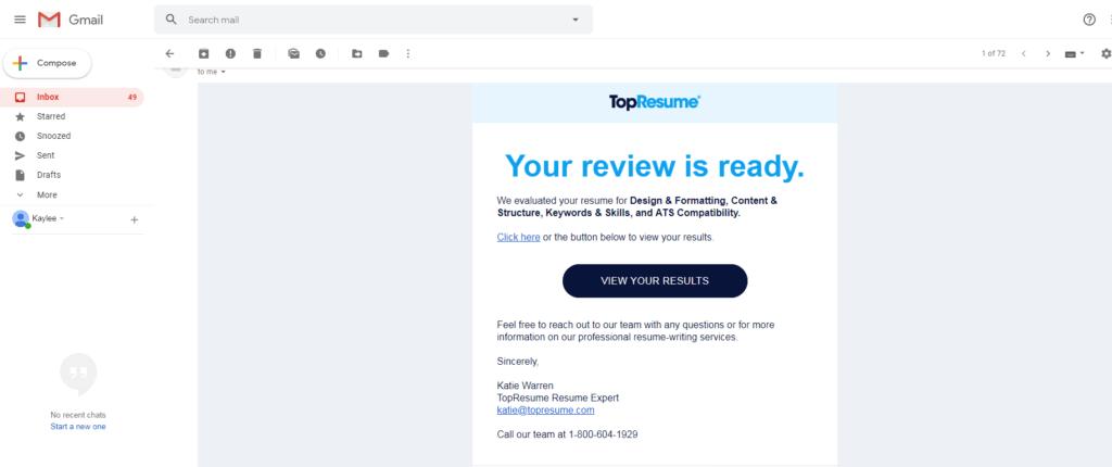 resume rewiev online