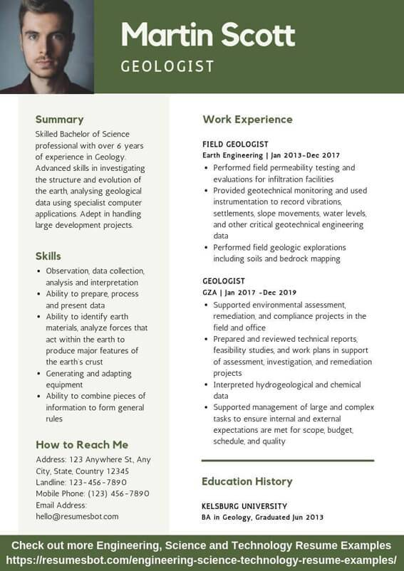 geologist resume samples  u0026 templates  pdf doc  2019