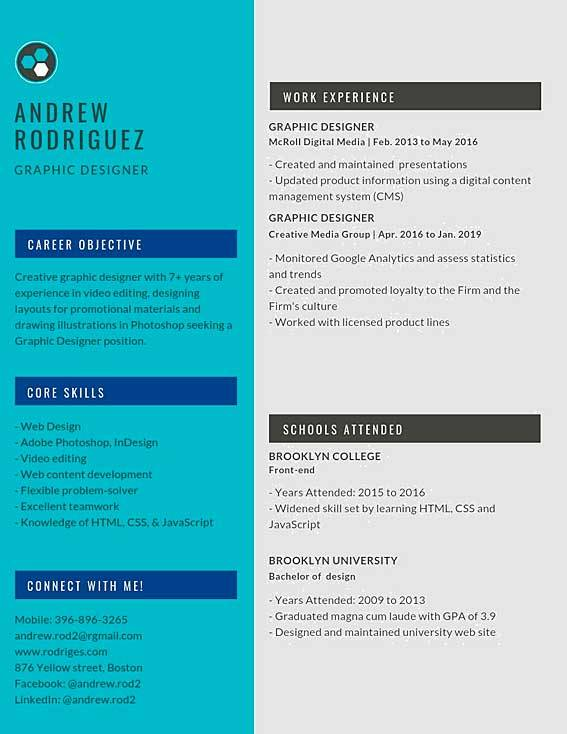 Graphic Designer Resume Samples Templates Pdf Doc 2020 Graphic Designer Resumes Bot