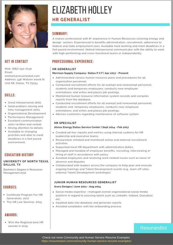 hr generalist resume samples  u0026 templates  pdf word  2020