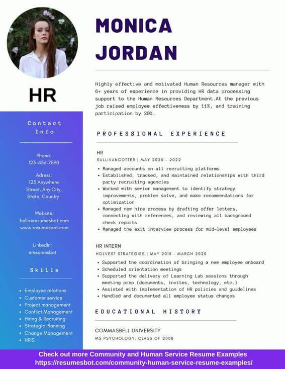 Hr Resume Samples And Tips Pdf Doc Resumes Bot