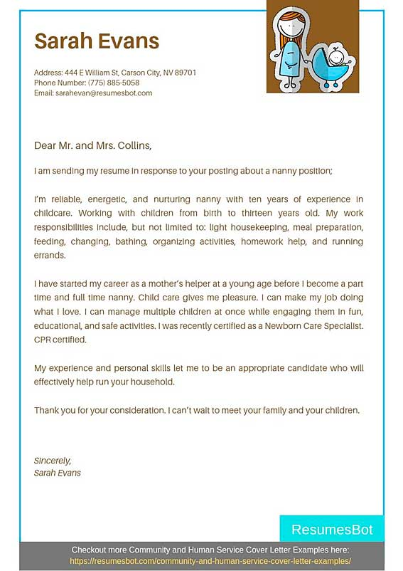 Nanny Cover Letter Samples Templates Pdf Word 2021 Nanny Cover Letters Rb