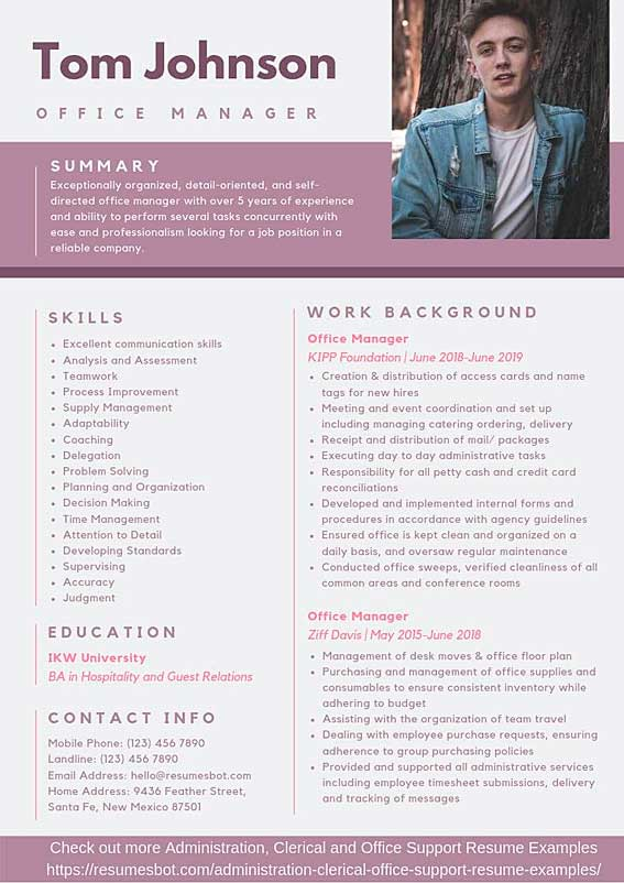 office manager resume samples  u0026 templates  pdf doc  2020
