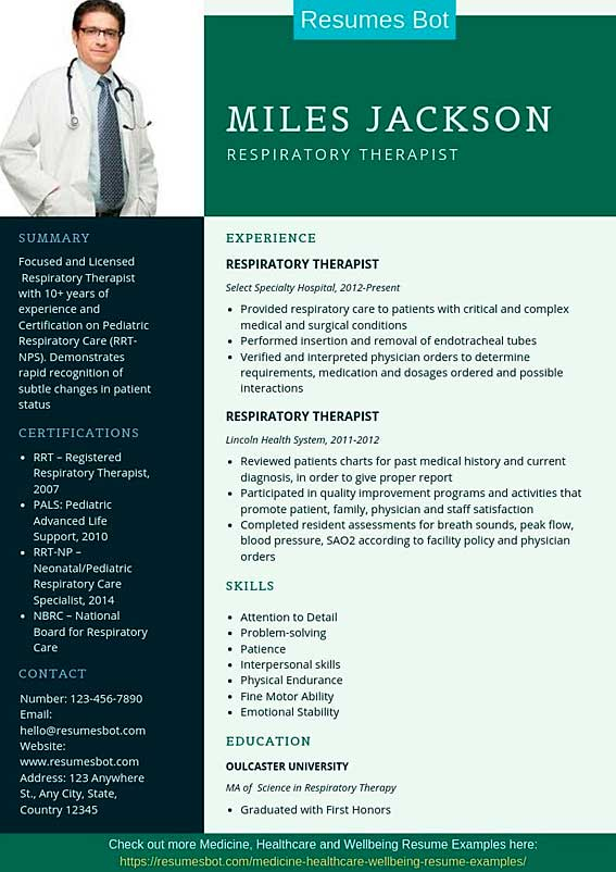respiratory therapist resume samples  u0026 templates  pdf word