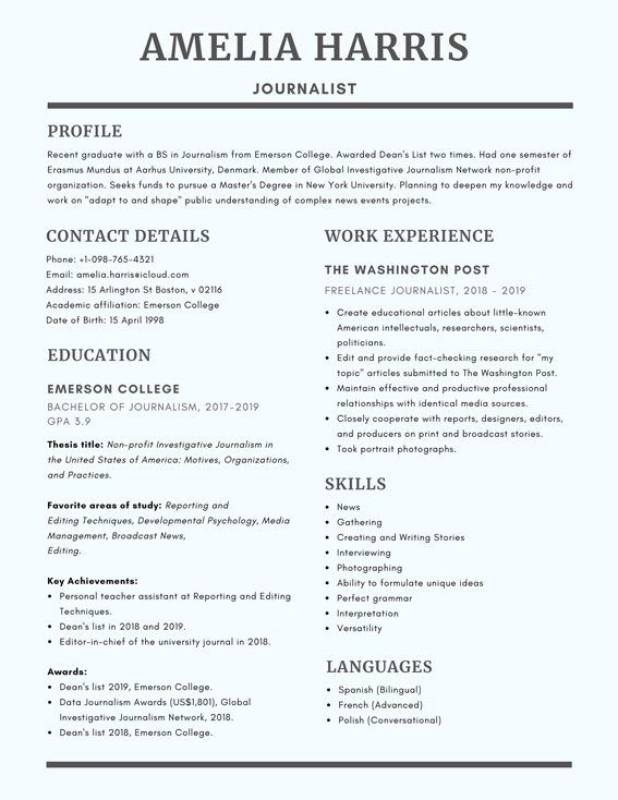 Scholarship Resume Template: Writing Tips + Scholarship Resume Sample