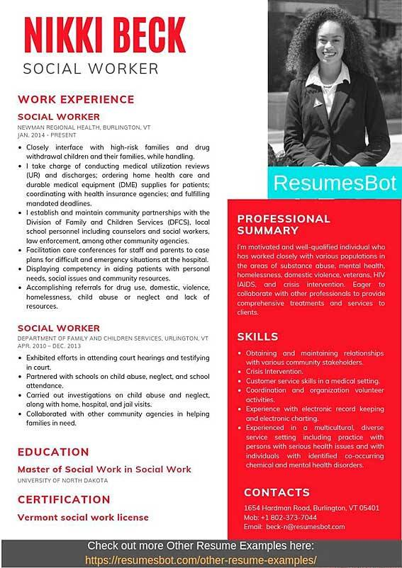 social worker resume samples and tips  pdf doc examples